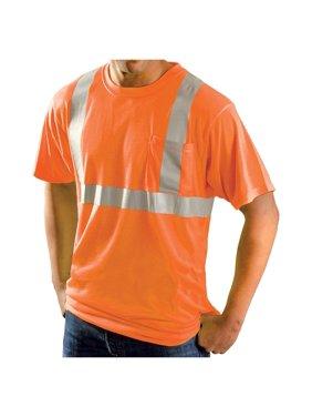 Rugged Blue Class 2 High-Vis Wicking Shirt High Vis Orange 2XL
