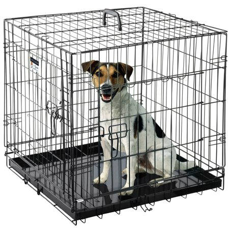 """Pet Trex Premium Quality 24"""" Folding Heavy Duty Pet Crate Kennel Wire Cage for Dogs Cats or Rabbits"""