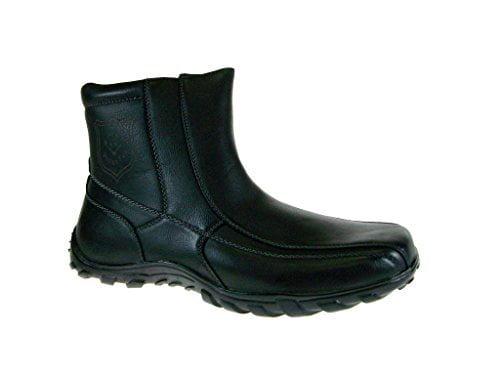 Polar Fox Men's 532-Black Cold Weather Fleece Lined Boots
