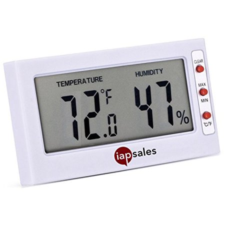 Indoor Digital Thermometer and Humidity Meter - Works in Celsius & Fahrenheit