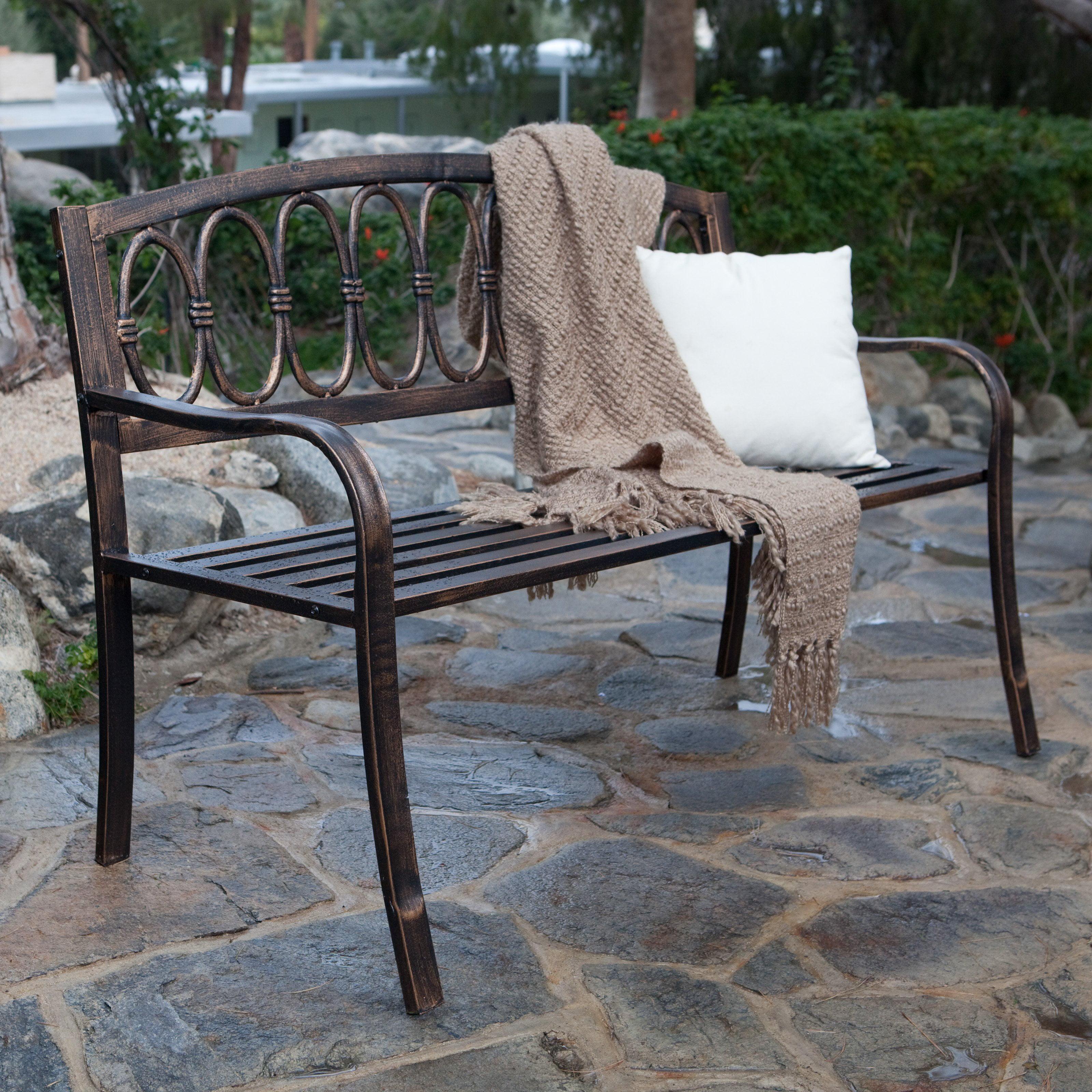 Coral Coast Verona 4 Ft. Curved Back Garden Bench   Antique Gold    Walmart.com Part 77