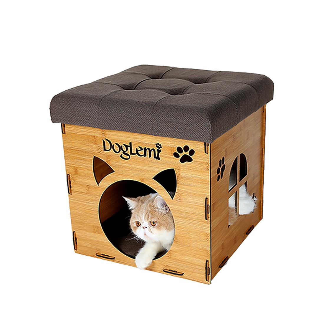 Multi-Function Soft Ottoman Design Cat Cube House Pet Cat...