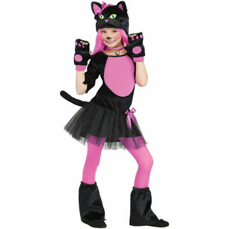 Cute Group Girl Halloween Costumes (Miss Kitty Girls' Child Halloween)
