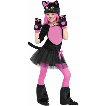 Miss Kitty Girls' Child Halloween Costume - Halloween Costume 50s Pin Up Girl