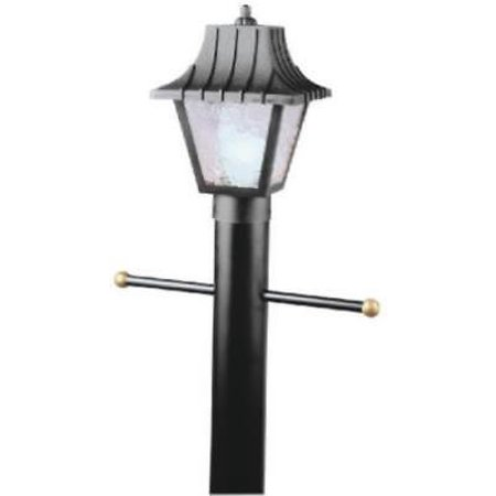 Single Light Post Top Lantern Hi Impact Black Finish Polycarbonate Only One