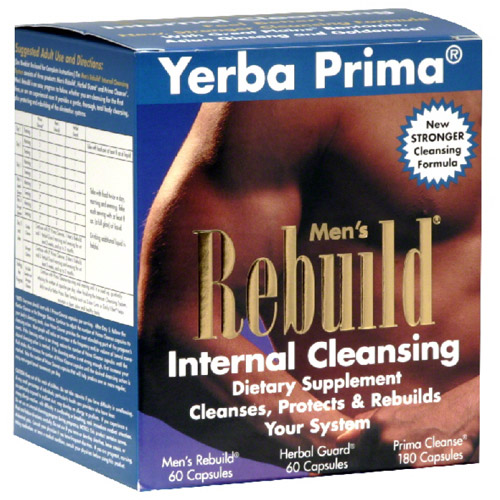 Yerba Prima Men's Rebuild Internal Cleansing Dietary Supplement Tablets, 300 count
