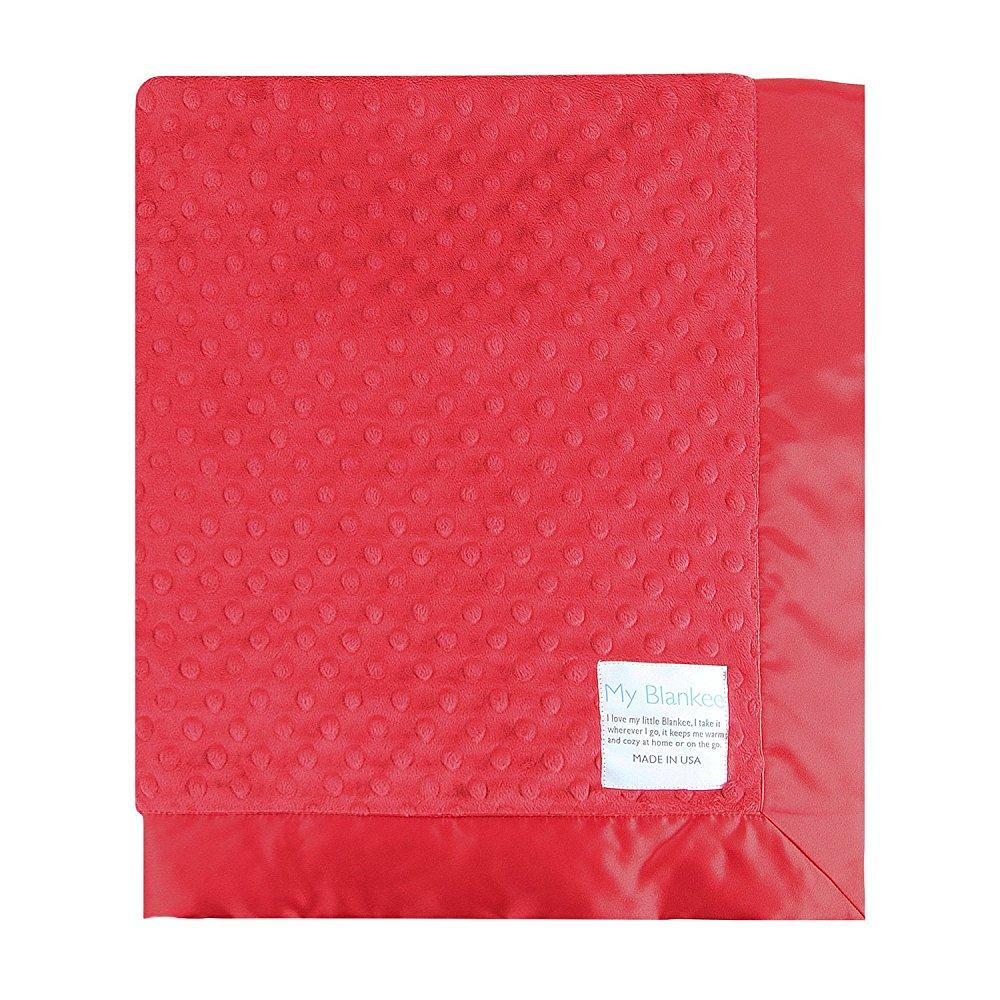my blankee minky dot baby blanket, 30 x 35, red