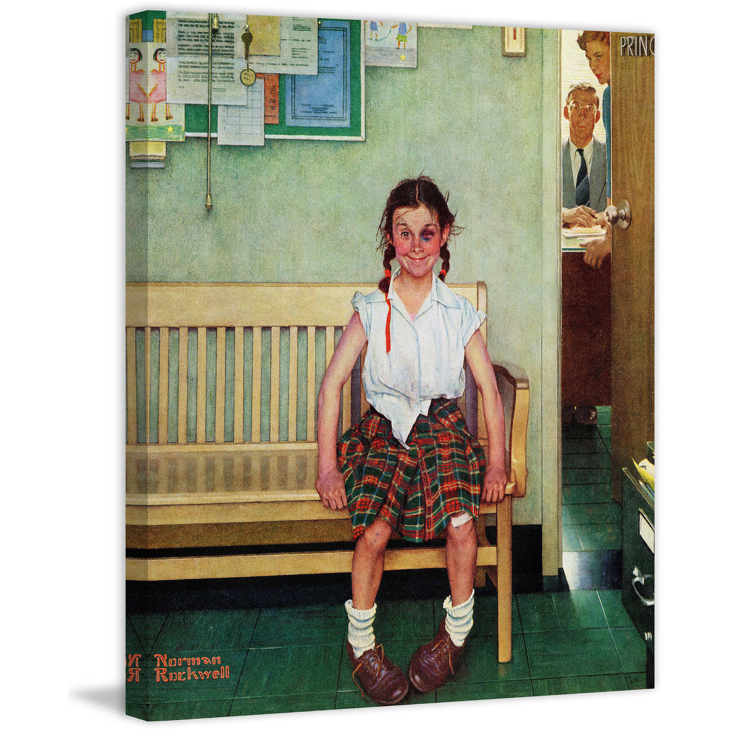 """Marmont Hill """"Shiner"""" by Norman Rockwell Painting Print on Canvas"""