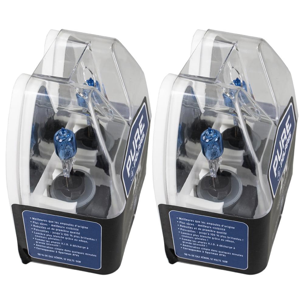 2 OEM ATV Xenon Headlight Blue Bulb 2005-2014 Polaris Sportsman XP 400 550 850