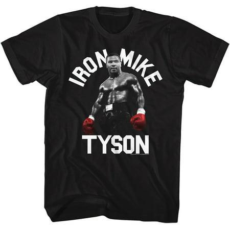 Unisex Adult Iron Mike Tyson T Shirt   Black Short Sleeve Boxing Tee