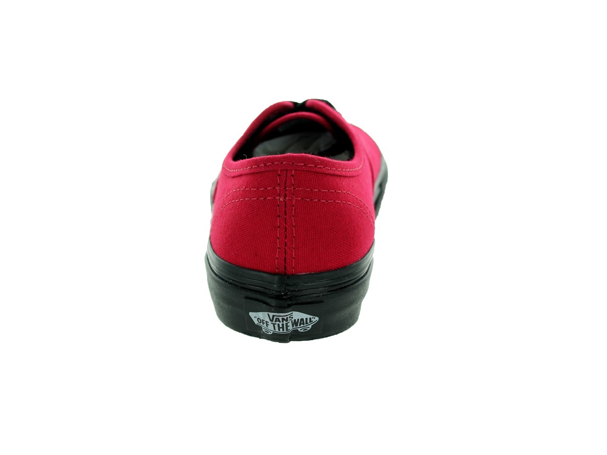 12c8d4e01c0ff6 Vans - Vans Authentic Black Sole Jester Red Men s Classic Skate Shoes Size  11.5 - Walmart.com