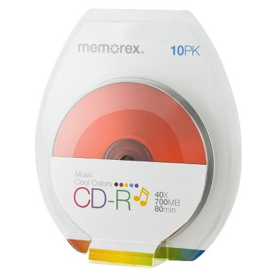 Memorex CD-R Color Disc Pack - 10 PK