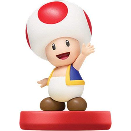 Toad Amiibo Super Mario Bros Series Figure Character](Toad Super Mario)