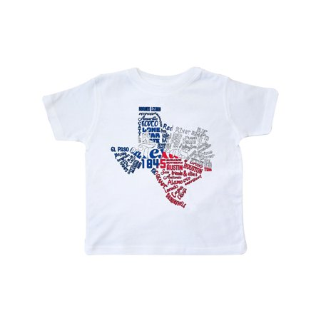 Texas Word Salad- state outline with flag Toddler T-Shirt