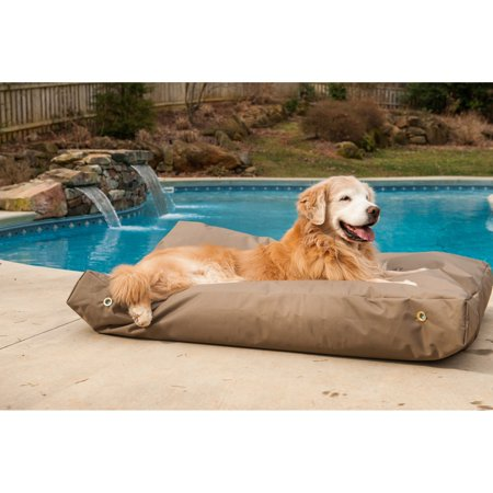 Snoozer Pet Dog Cat Puppy Soft Comfortable Lounger Rectangle Sleeping Rest Bed Large Hazelnut