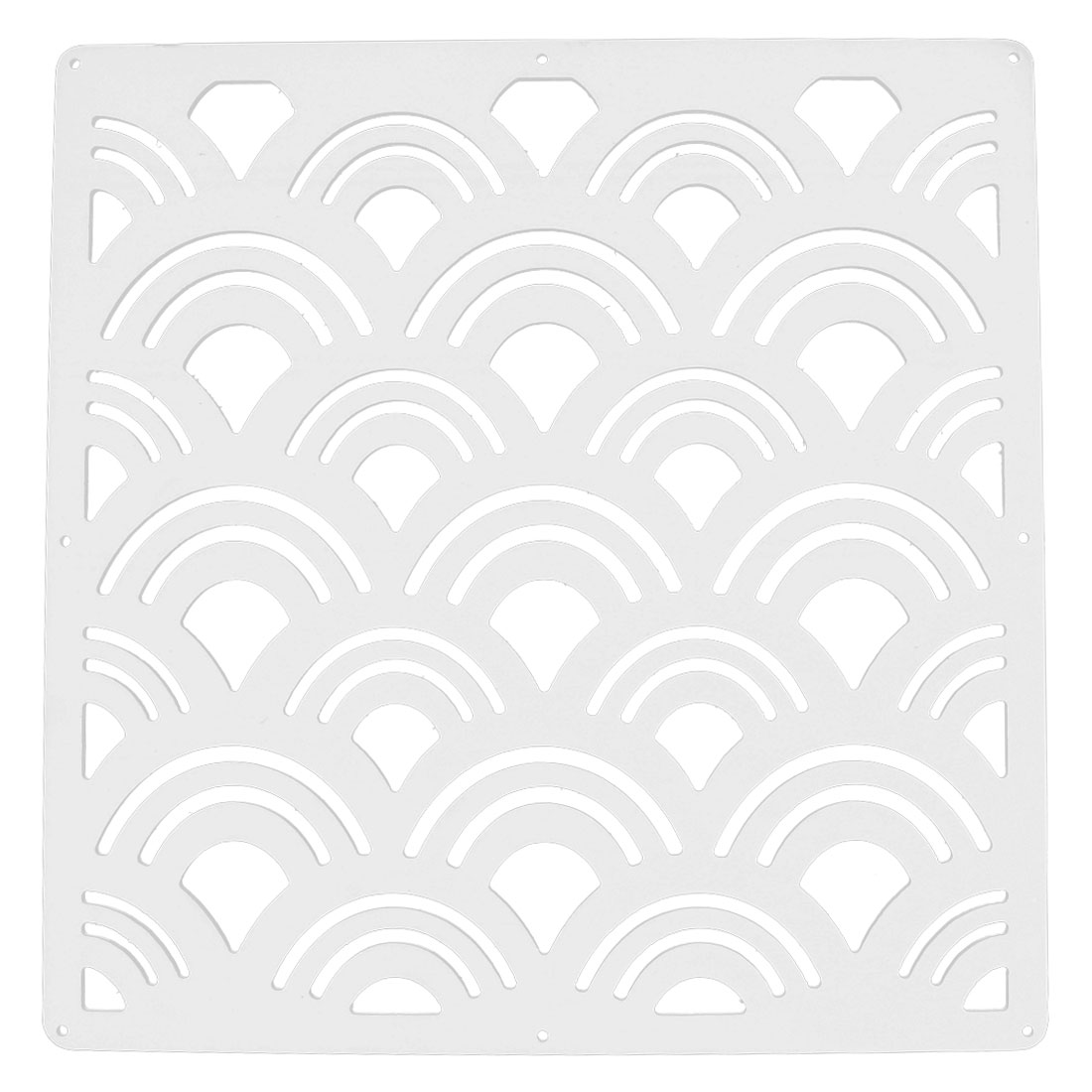 Hotel Room Wave Pattern Hollow Out Window Sticker Panel Hanging Screen White