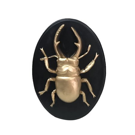 Halloween Sign Post (Way to Celebrate Faux Stag Head Beetle Insect Plaque Halloween Decorative)