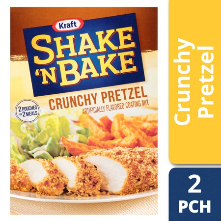 (3 Pack) Kraft Shake 'n Bake Crunchy Pretzel Seasoned Coating Mix, 4.6 oz Box