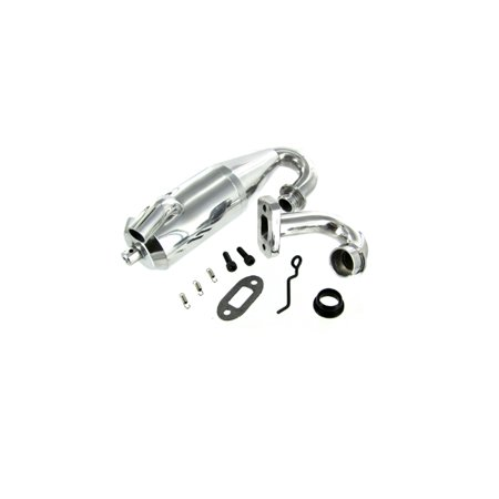 Redcat Racing Part 07435 Polished Aluminum Tuned Exhaust Pipe Set