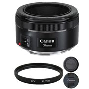 Canon EF 50mm f/1.8 STM Lens with 49mm UV Filter