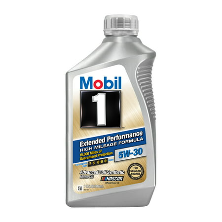(3 Pack) Mobil 1 Extended Performance High Mileage Formula 5W30, 1 qt
