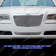 APS Compatible with 2011-2014 300 300C Aluminum Chrome Horizontal Billet Grille Insert Combo R61179A