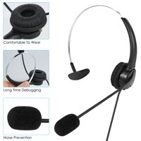 LIPHOM USB Headset with Microphones on Ear Headphones Wired Noise Cancelling Earphones for PC Laptop Corded Telephones