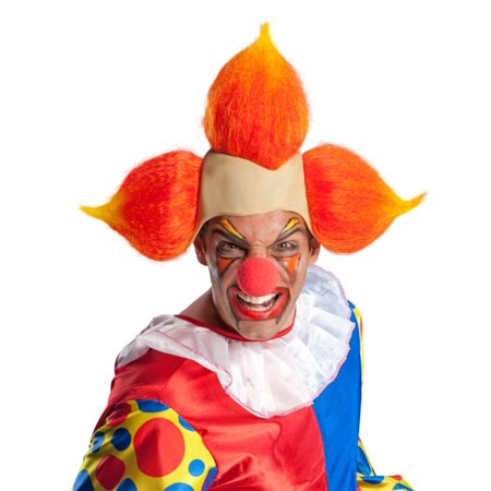 Bozo The Clown Wig (Evil Clown Bozo Adult Costume Wig -)