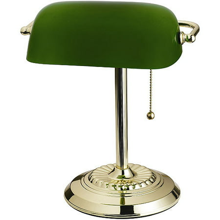 Green bankers lamp glass shade walmart green bankers lamp glass shade aloadofball