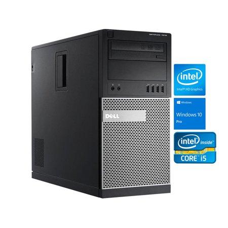 Dell OptiPlex 7010 Mini Tower Desktop, Intel Quad-Core i5-3470 Upto 3.6GHz, 8GB RAM, 128GB SSD + 1TB HDD, DVD-RW, VGA, DisplayPort, LAN, Wi-Fi, Bluetooth, Windows 10 Pro