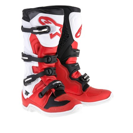 Alpinestars Tech 5 Boots Red/White/Black (Red,