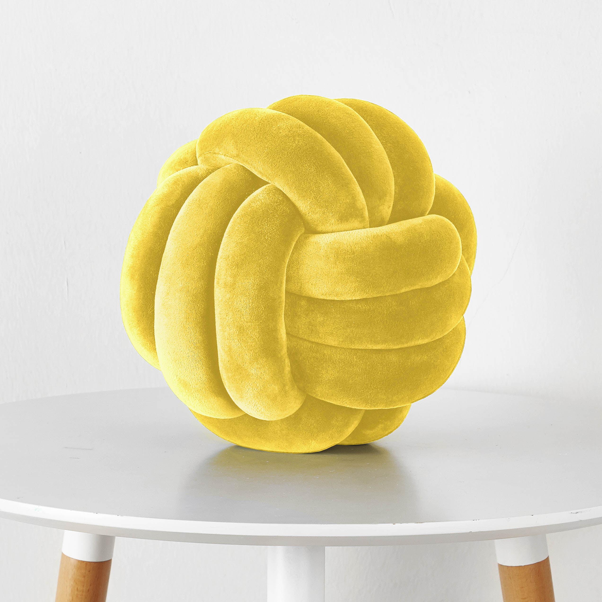 Mainstays Medium Decorative Infinity Knot Pillow Yellow Multiple Colors Walmart Com Walmart Com