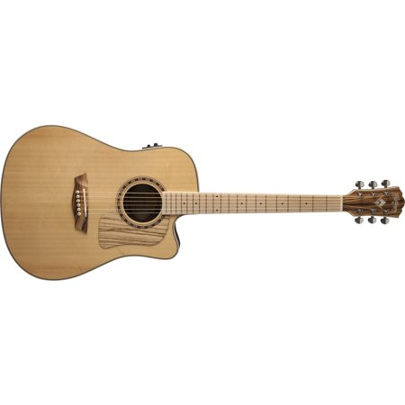 Washburn WCSD30SCEK Solid Top Acoustic Electric Guitar with Bag - B Stock (B Stock Supply)