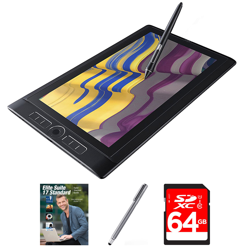 "Wacom MobileStudio Pro 13""Tablet i7 512GB SSD, Windows 10 (DTH-W1320H) with Corel Elite Suite 17 Standard Software Bundle, Bamboo Solo Stylus for Tablets and Smartphones & 64GB Memory Card"