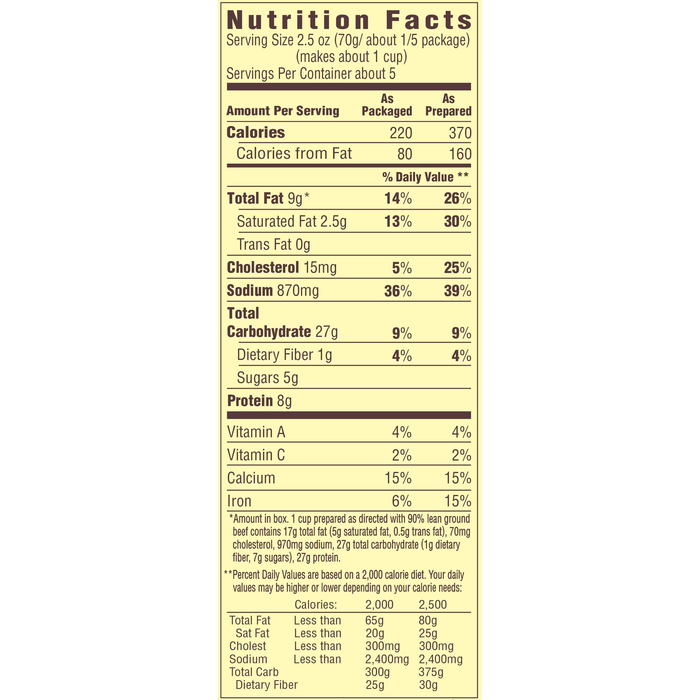 recipe: velveeta mac and cheese box nutrition [21]