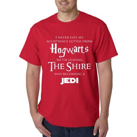 1064 - Unisex T-Shirt Hogwarts The Shire Jedi ()