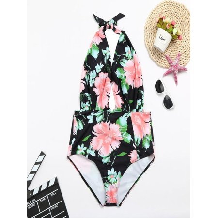 ccab36ae7 iLH - iLH Mallroom Women Retro One Piece Backless Bather Swimsuit High  Waisted Pin Up Swimwear - Walmart.com