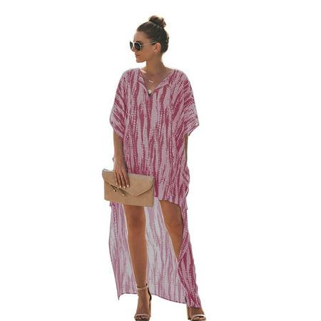 Sleeve Kaftan - Women Batwing Sleeve Loose Kaftan Party Tie Dye Blouse Maxi Dress