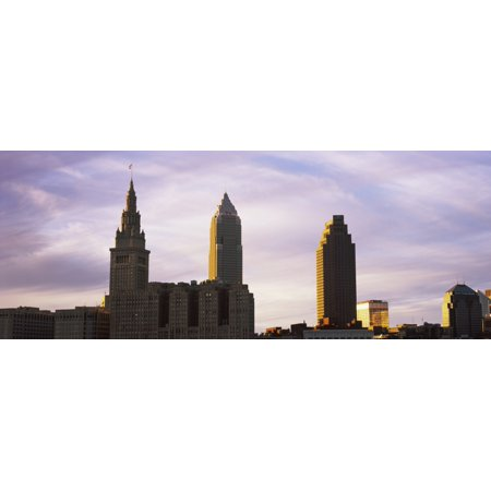 Skyscrapers in a city Cleveland Ohio USA Poster Print by Panoramic - Halloween Stores In Cleveland Ohio