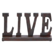Woodland Imports Wooden Table Top Live Sign - 14W x 8H in. - DO NOT USE