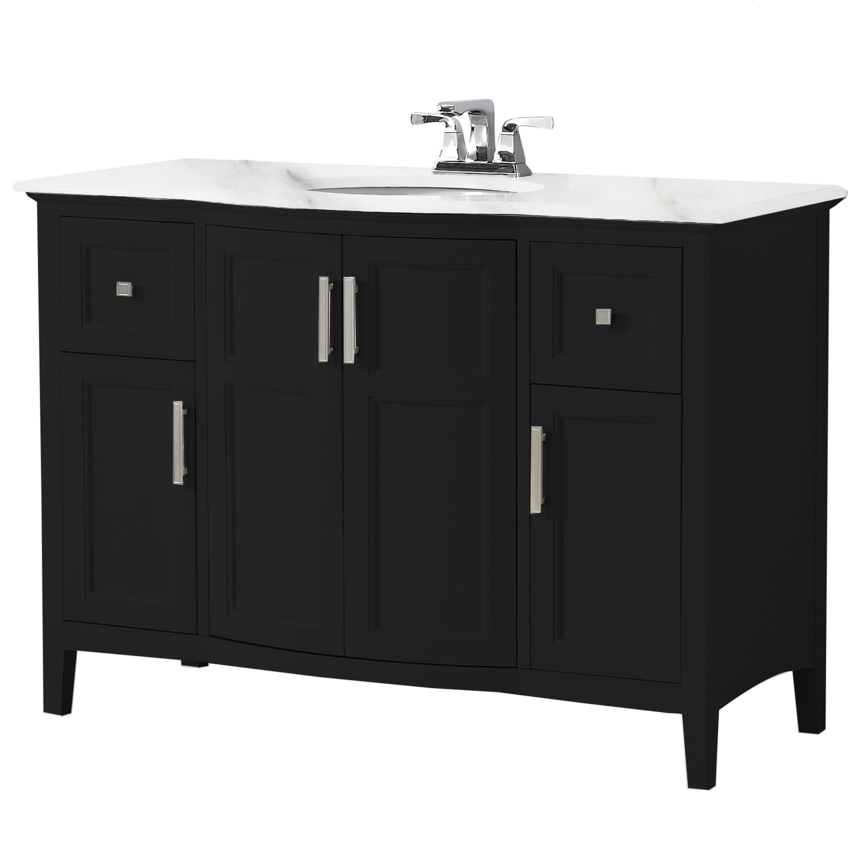Brooklyn + Max Wilshire 48 inch Contemporary Bath Vanity ...
