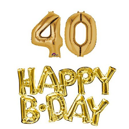 40th birthday party balloons supplies and decorations in - Mens 40th Birthday Decorations