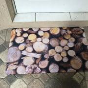 Bungalow Flooring Fo Flor Stacked Logs Doormat