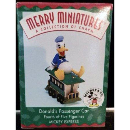 Hallmark Disney Merry Miniatures Donald Duck's Passenger Car 1998 Ornament
