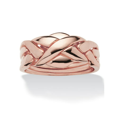 Commitment Symbol Puzzle Ring 14k Rose Gold-Plated ()