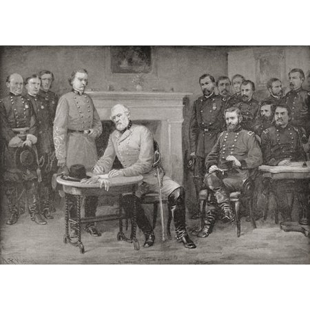 The Surrender Of General Lee To General Grant At Appomattox Courthouse Virginia America In 1865 Thereby Ending The American Civil War From Famous Men And Great Events Of The 19Th - Halloween In 19th Century America
