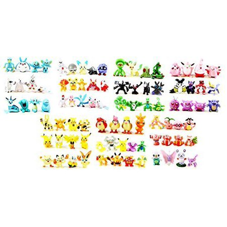 24 Pokemon Minifigures With Included Storage Tin - Premium Pokemon Toys - Perfect Cake Toppers or Party Favors - Find Your Favorite Characters in This Minifigure Variety Pack - Pikachu