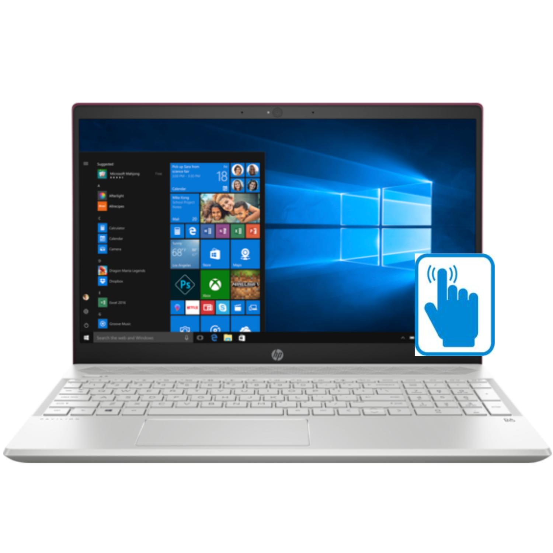 "HP Pavilion 15t Premium Touch Laptop (Intel 8th Gen i7-8550U quad core, 32GB RAM, 2TB HDD + 16GB Optane, 15.6"" FHD 1920 x 1080, GeForce MX150, Backlit Keyboard, Win 10 Home) Velvet Burgundy"