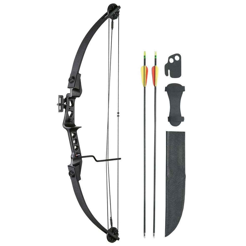 Leader Accessories Compound Bow 19-29lbs Archery Hunting Equipment with Max Speed 129fps by Leader Accessories