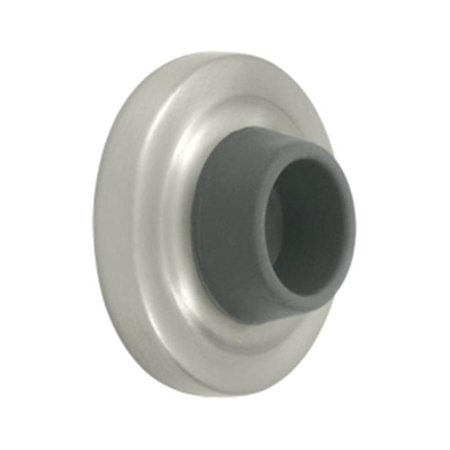 2.37 in. Diameter Concave Flush Bumper, Satin Nickel - Solid - image 1 of 1